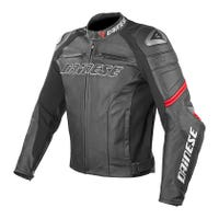 Dainese Racing Leather Jacket - Black / Red