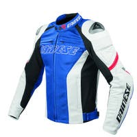 Dainese Racing Leather Jacket - Blue / White / Red