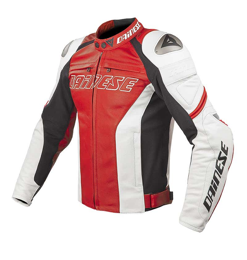 Dainese Racing Leather Jacket - Red / White / Red