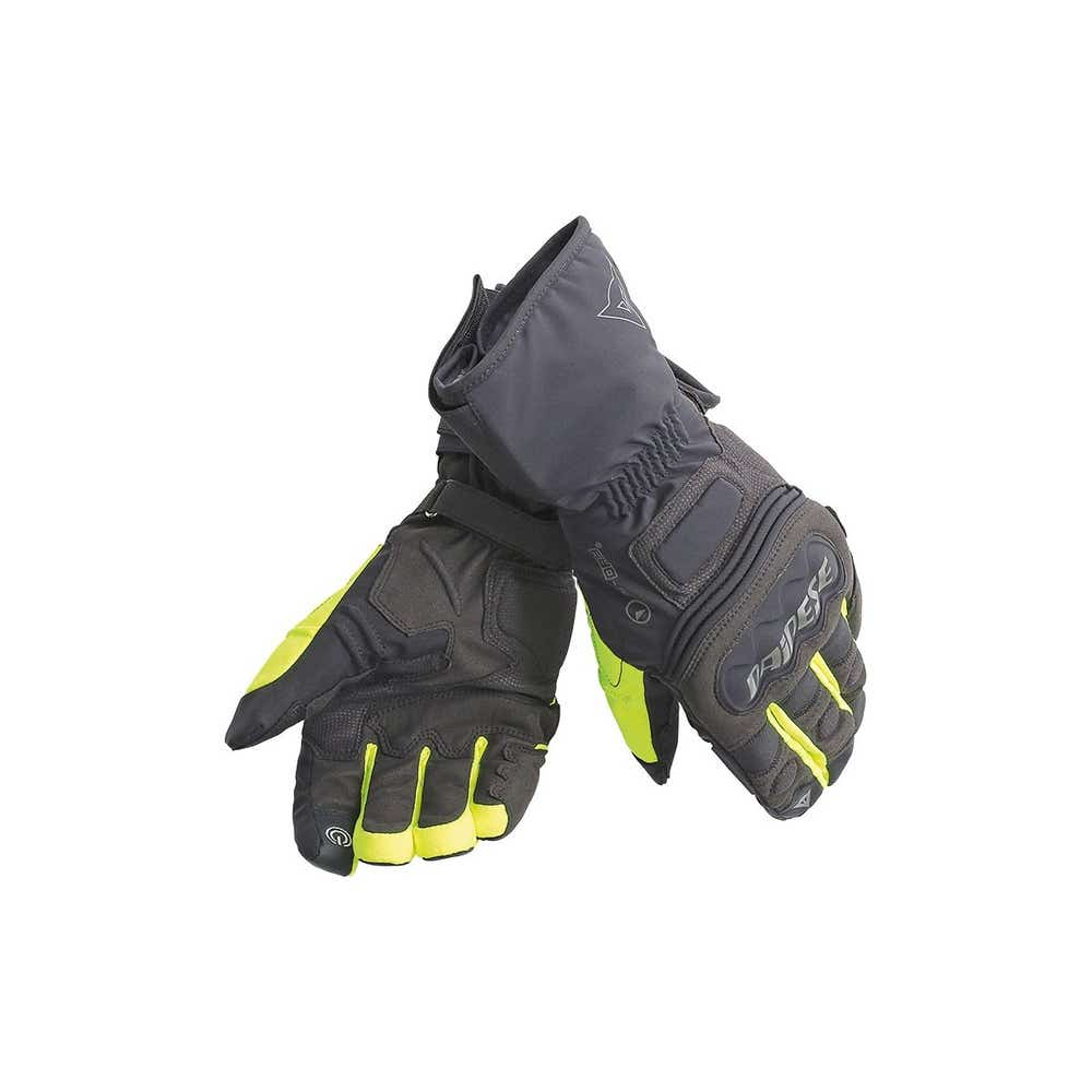 Dainese Rainlong D-Dry Waterproof Gloves - Black / Yellow