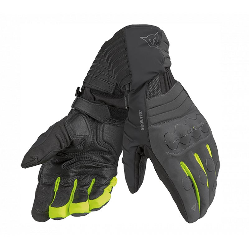 Dainese Scout Evo Gore-Tex Gloves - Carbon / Black / Fluoro Yellow