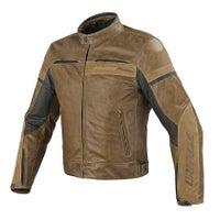 Dainese Stripes Evo Leather Jacket - Tobacco