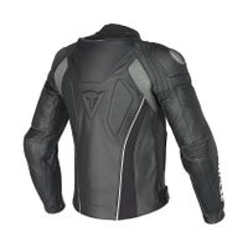 Dainese Super Speed C2 Estivo Leather Jacket - White / Anthracite