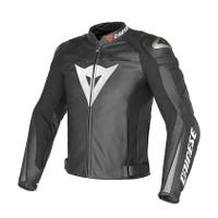 Dainese Super Speed C2 Estivo Leather Jacket - White / Anthracite