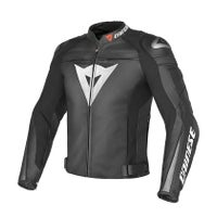 Dainese Super Speed C2 Leather Jacket - Black / Black / Anthracite