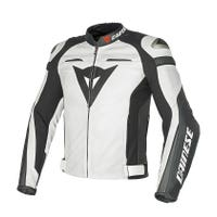 Dainese Super Speed C2 Leather Jacket - White / Anthracite