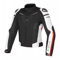 Dainese Super Speed Tex Textile Jacket - Black / White / Red