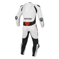 Dainese Team Estiva One Piece Leather Suit - White / Black