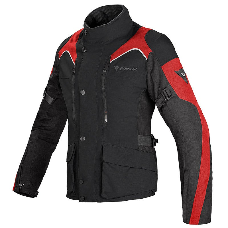 Dainese Ladies' Tempest D-Dry Waterproof Jacket - Black / Red - Front