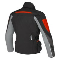Dainese Temporale D-Dry Waterproof Jacket - Black / Dark Gull Grey / Red