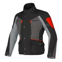 Dainese Temporale D-Dry Waterproof Jacket - Black / Dark Gull Grey / Red