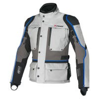 Dainese Teren D-Dry Waterproof Jacket - High Rise / Dark Gull Grey / Princess Blue