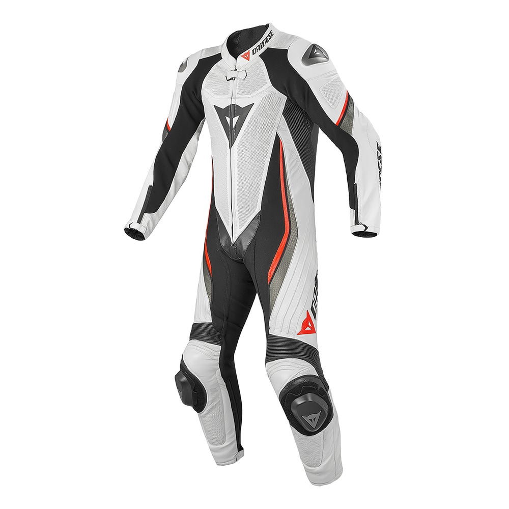 Dainese Trickster Evo Estiva One Piece Leather Suit - White / Red