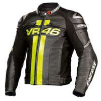 Dainese VR46 Leather Jacket - Black / Yellow