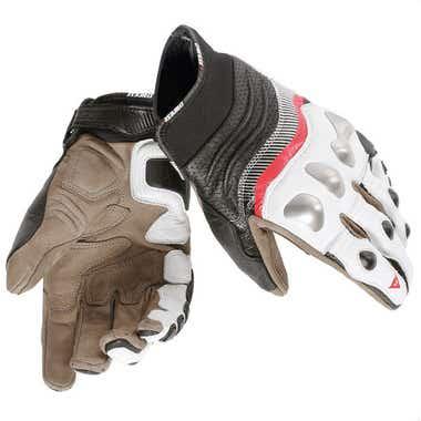 Dainese X-Strike Gloves - White / Lava Red / Black