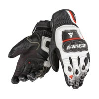 Dainese Druid S-ST Gloves - Black / White / Lava Red