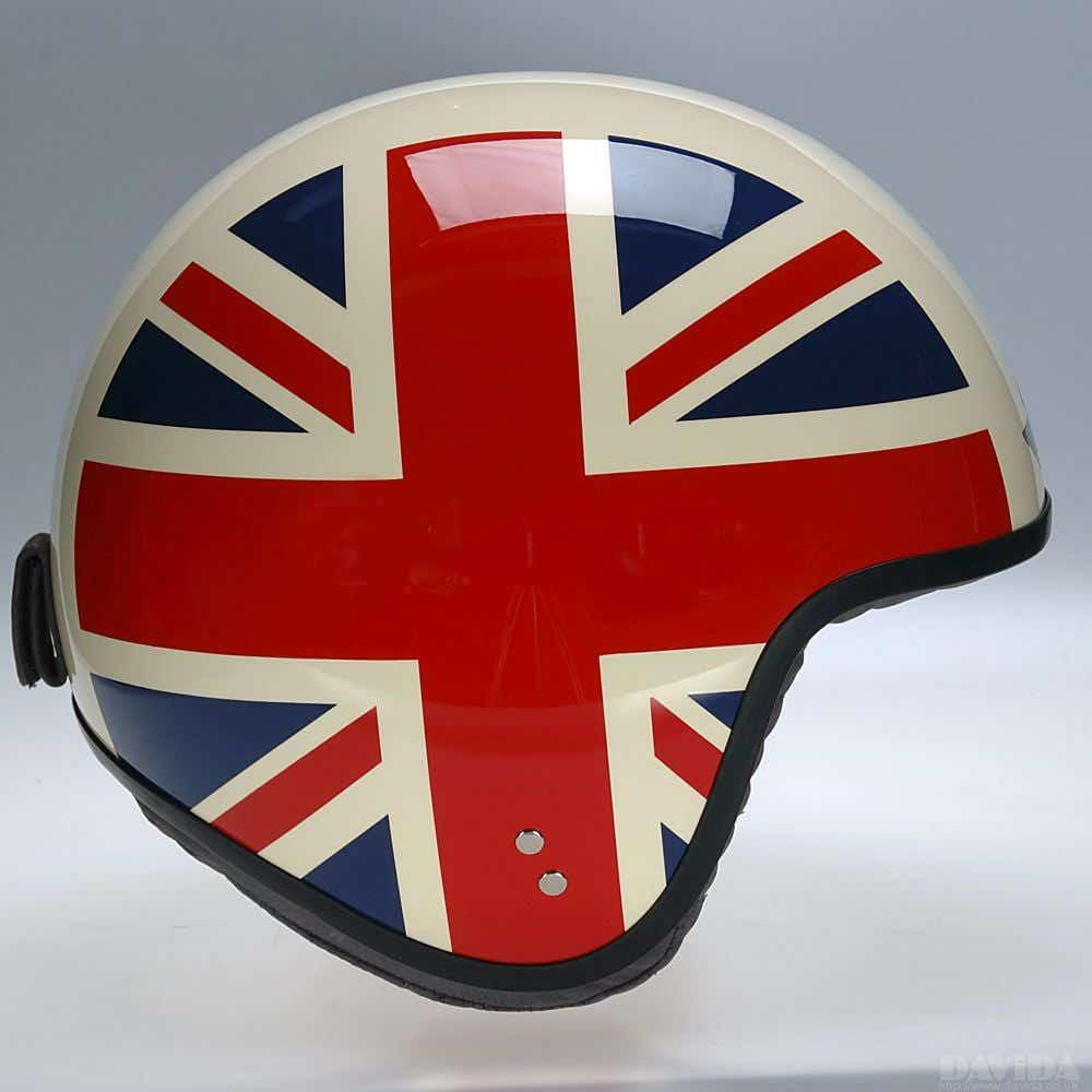 Davida Jet Complex Helmet - Cream UJ Sides