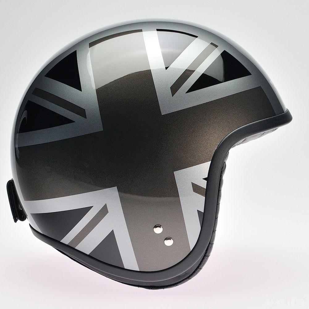 Davida Jet Complex Helmet - Silver / Mono UJ Sides