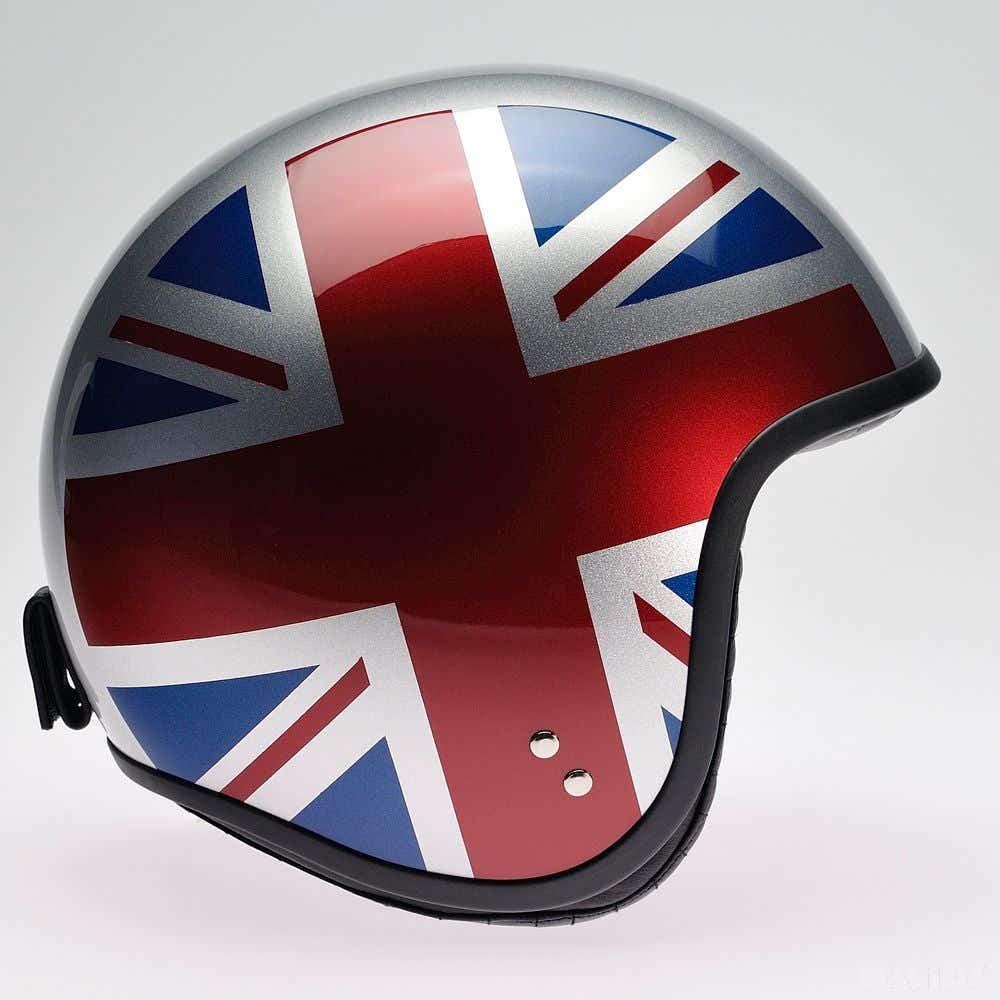 Davida Jet Complex Helmet - Silver UJ Sides