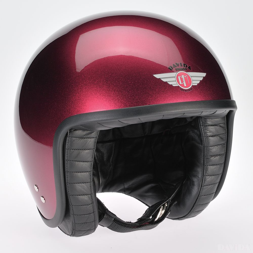 Davida Jet Standard Cosmic Candy Helmet - Burgundy