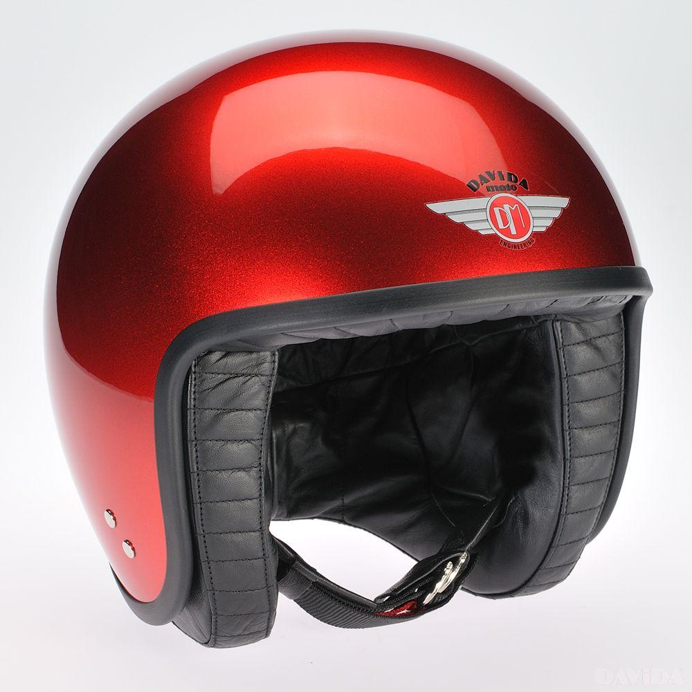 Davida Jet Standard Cosmic Candy Helmet - Red