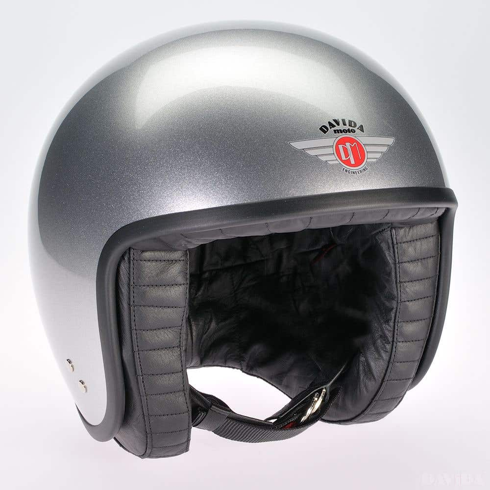 Davida Jet Standard Cosmic Candy Helmet - Silver