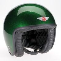 Davida Jet Standard Cosmic Flake Helmet - Green