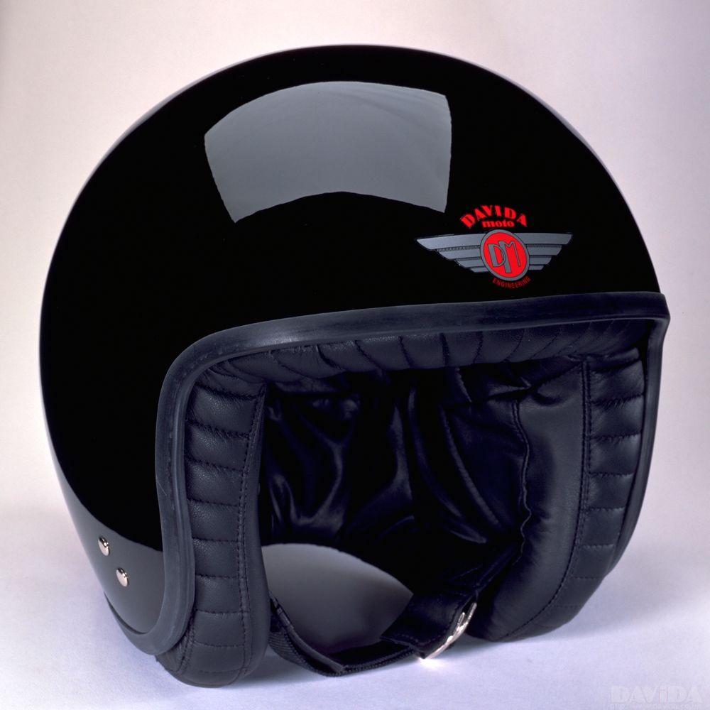Davida Jet Standard Helmet - Black