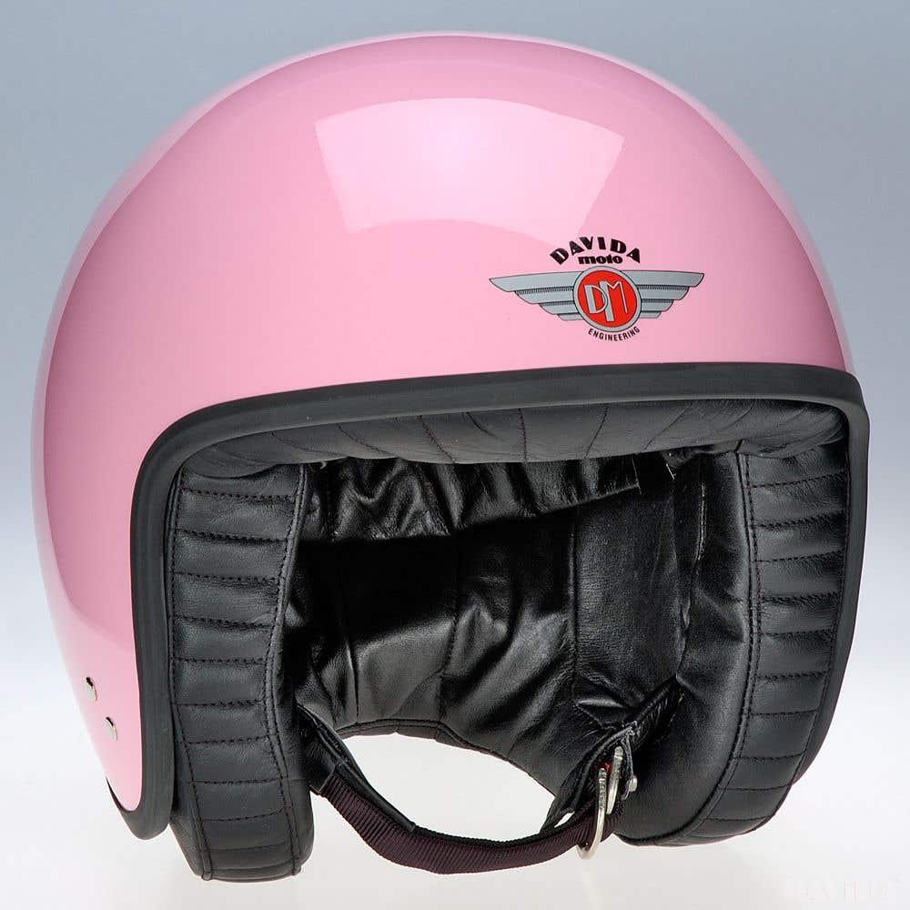 Davida Jet Standard Helmet - Pink