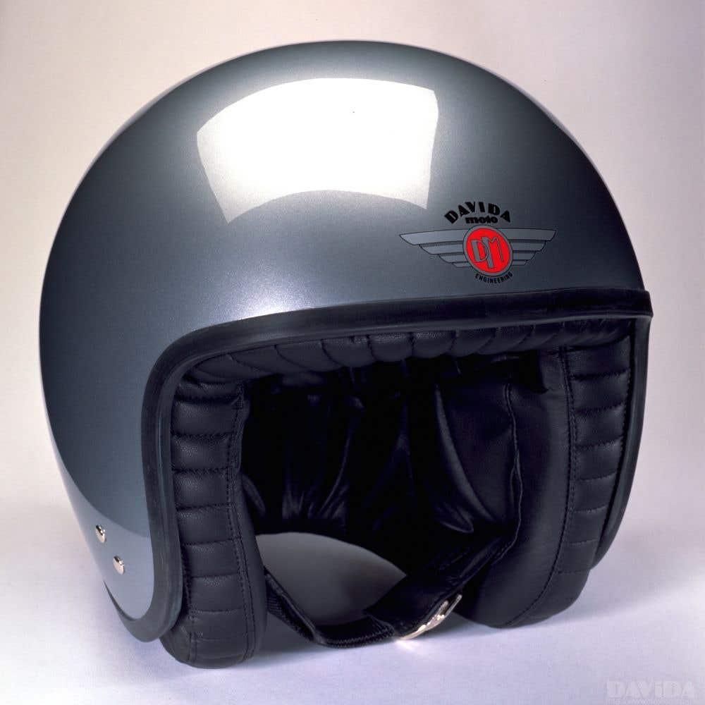 Davida Jet Standard Helmet - Silver