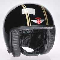 Davida Jet Two Tone Helmet - Black / Gold