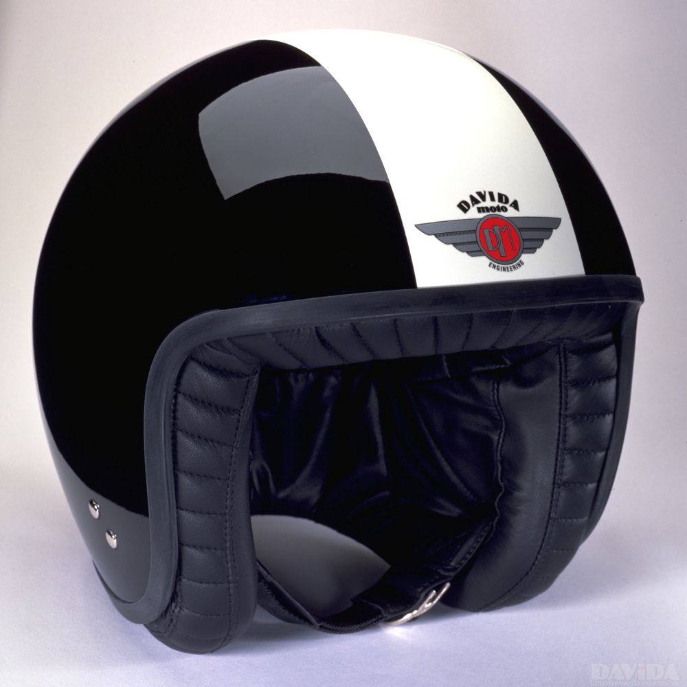 Davida Jet Two Tone Helmet - Black / White