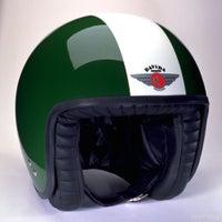Davida Jet Two Tone Helmet - British Racing Green
