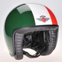 Davida Jet Two Tone Helmet - Green / White / Red