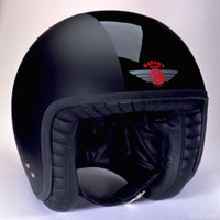 Davida Jet Two Tone Helmet - Matt Black / Gloss Black