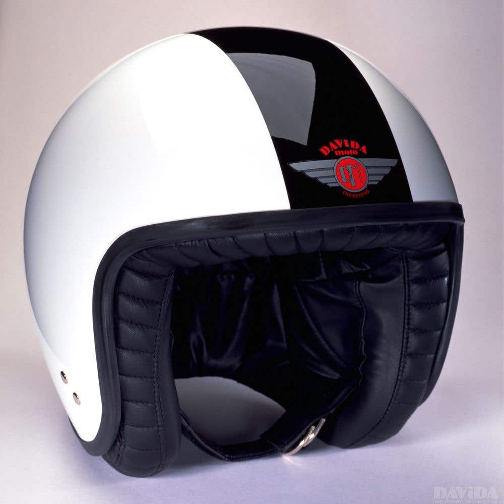 Davida Jet Two Tone Helmet - White / Black