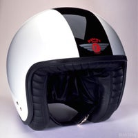 Davida Jet Two Tone Helmet - White / Black