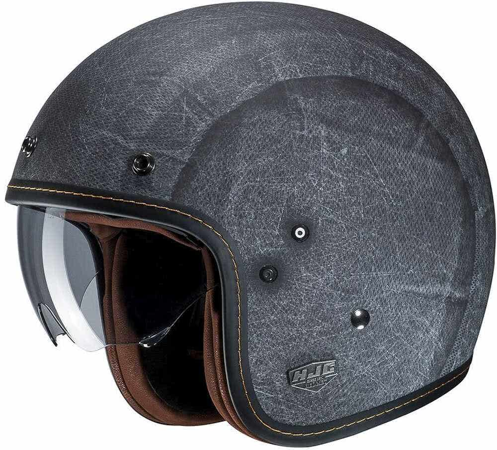HJC FG-70s Vintage Flat Brown Open Face Motorcycle//Scooter low profile Helmet XL