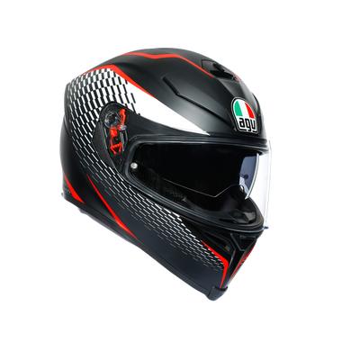 AGV K5-S HELMET - THUNDER: Matt Black/White/Red: XS