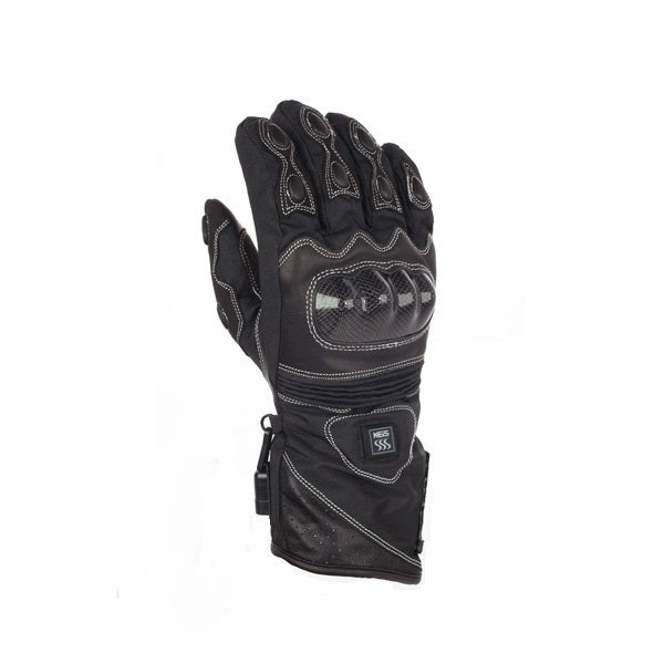 Keis X800i Dual Power Heated Motorcycle Gloves - Black