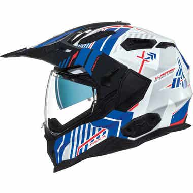 NEXX X.WED2 HELMET - WILD COUNTRY: WHITE/BLUE: 3XL