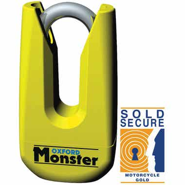 OXFORD MONSTER DISC LOCK - YELLOW