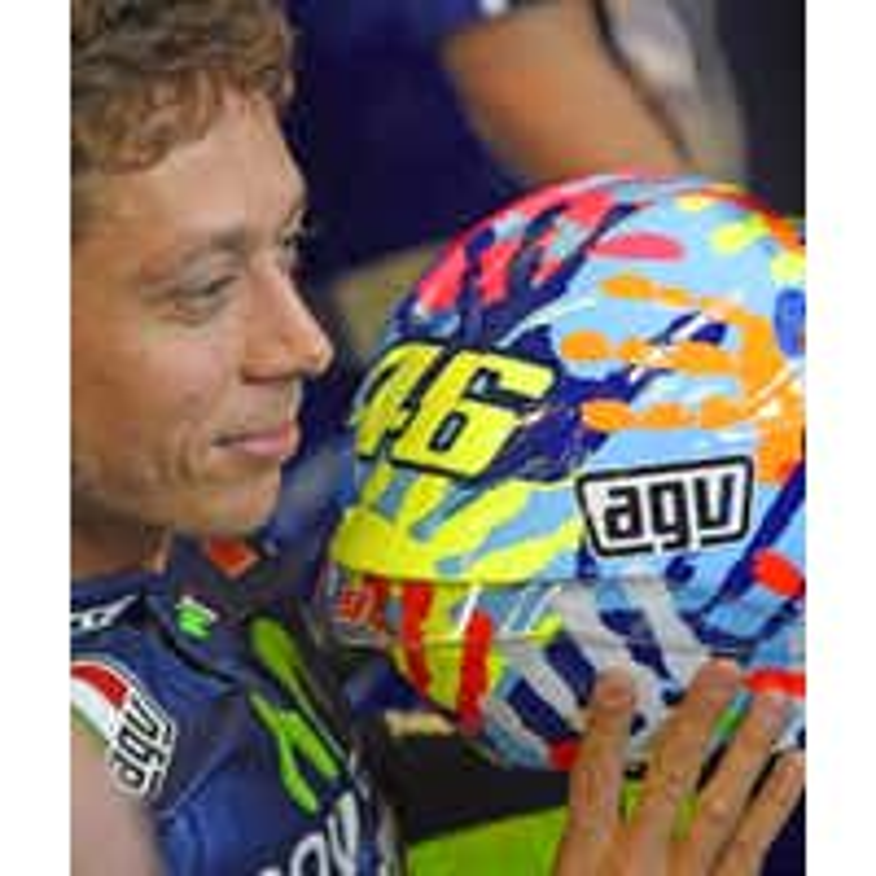 AGV Corsa Helmet - Misano 2014 - Rossi Close