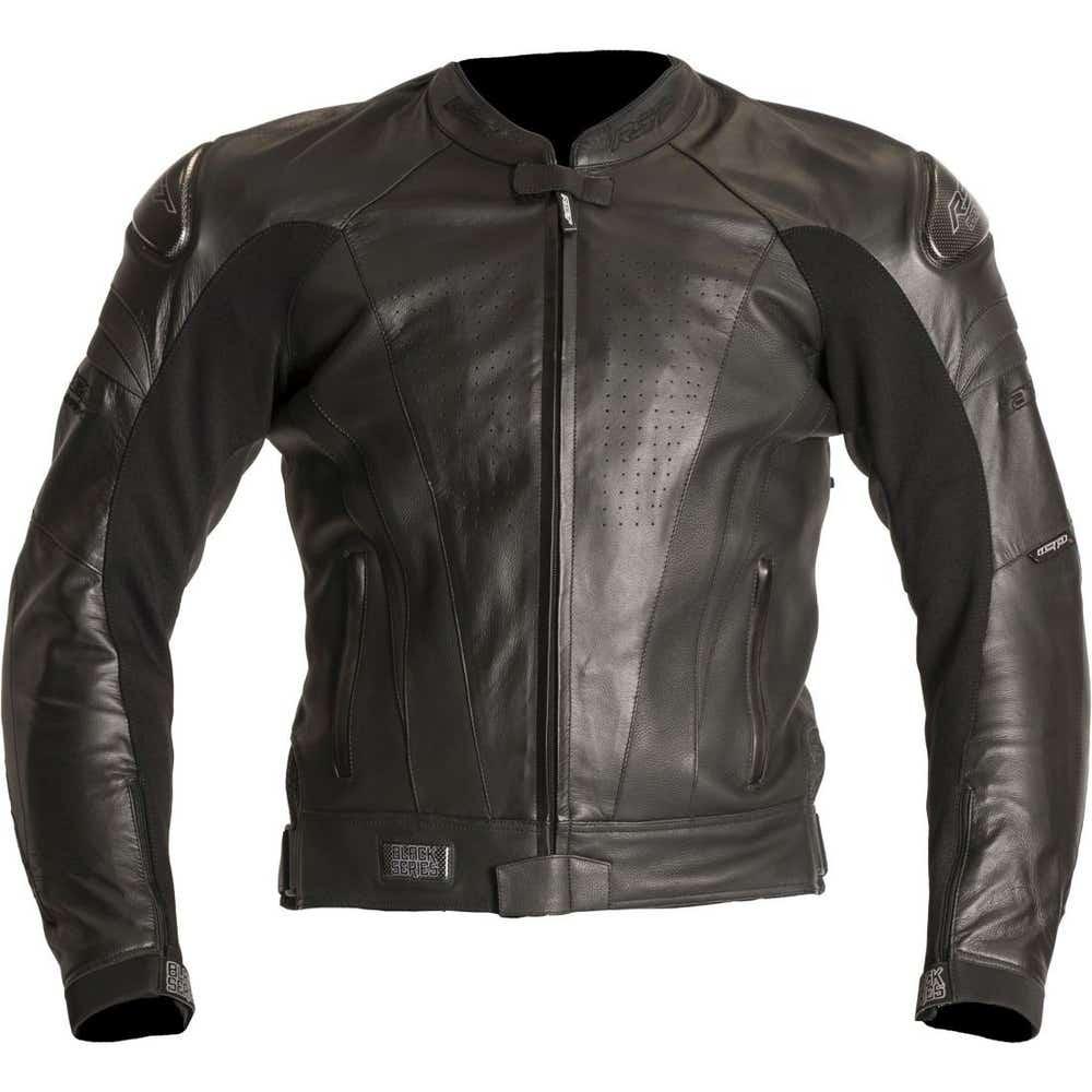 RST Black Series Leather Jacket - Black