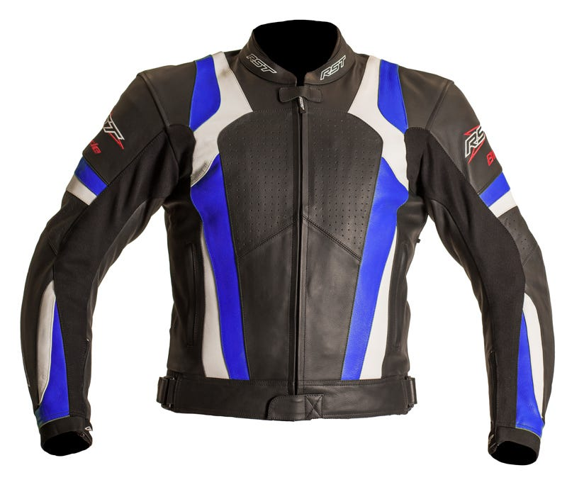 RST Blade Leather Jacket - Blue