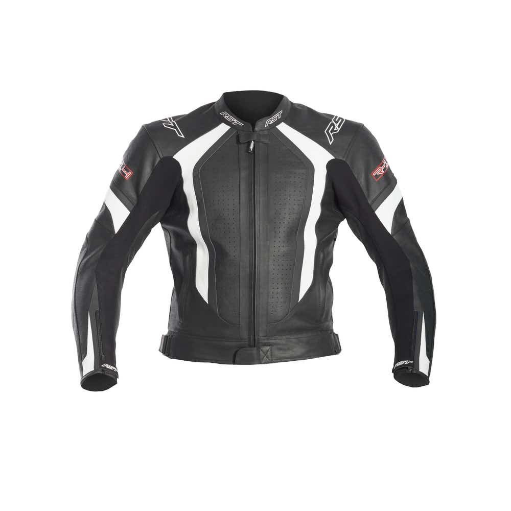 RST R-14 Leather Jacket - White