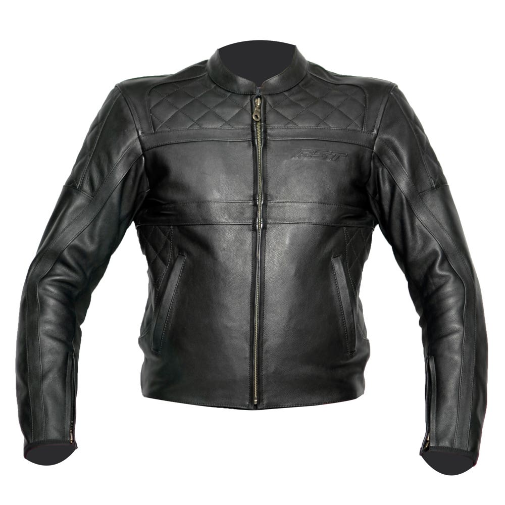 RST Retro Leather Jacket - Black