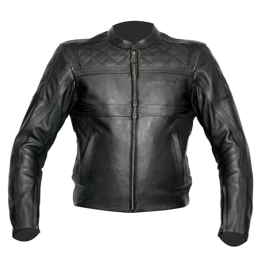 RST Retro Leather Jacket - Black