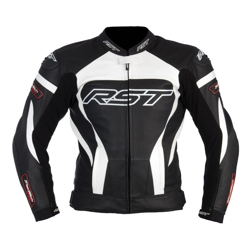 RST Tractech Evo Leather Jacket - White