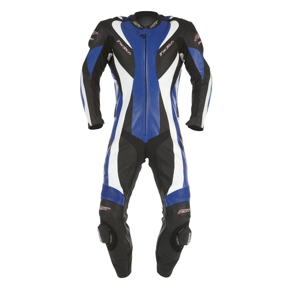 RST Tractech Evo One Piece Leather Suit - Blue